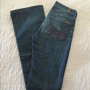 Seven for all Mankind high waisted 24 boot denim